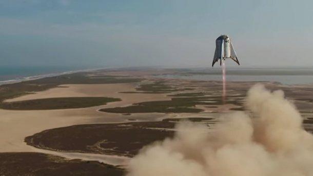 SpaceX провела успішний тестовий політ прототипу Starhopper: вражаюче відео