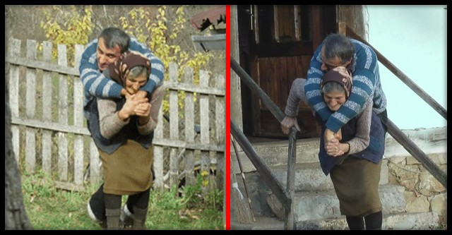 77-річна мама носить паралізованого сина на спині ось уже 59 років-Материнська любов