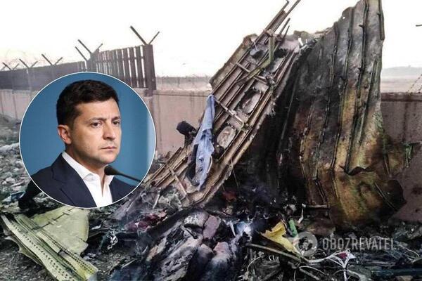 Зеленський висунув жорсткі вимоги Ірану щодо літака МАУ