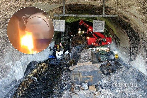 У Південній Кореї вантажівка з хімікатами вибухнула після ДТП в тунелі: багато жертв. Фото і відео