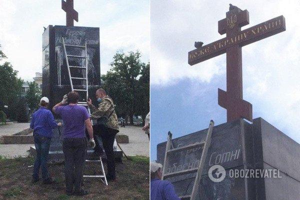 У Харкові осквернили постамент Героям Небесної Сотні. Фото