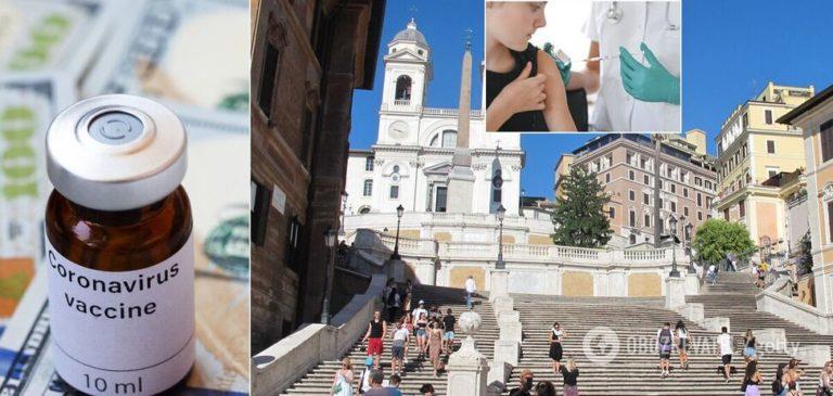 В Італії вакцину від COVID-19 почали випробовувати на людях: з'явиться у продажу в 2021-му