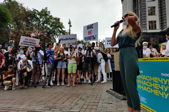 Протест на чолі з Поляковою. Список вимог артистів, які зібрались під урядом