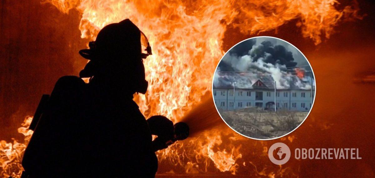 На Закарпатті спалахнув ЖК за 120 млн грн: відео масштабної пожежі