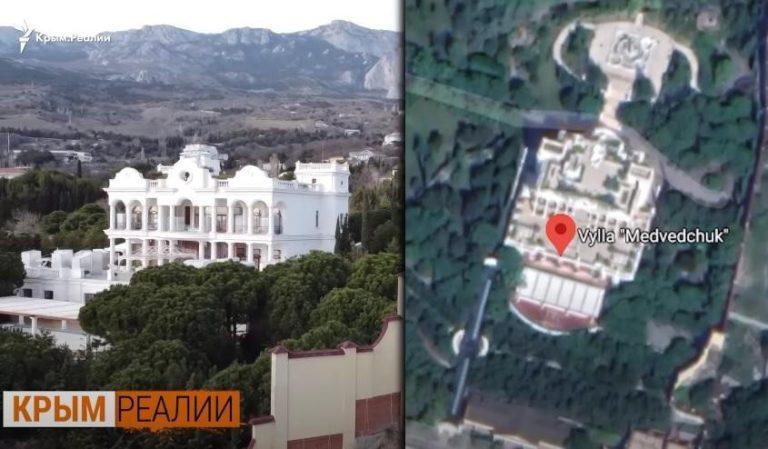 Забрав собі весь пляж: ЗМІ показали палац Медведчука у Криму (відео)