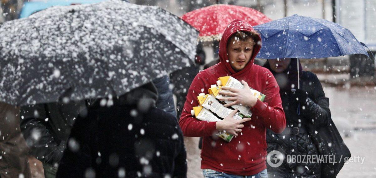 В Україну повернуться нічні морози, дощ і сніг: з'явився новий прогноз погоди