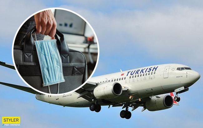 Українка влаштувала скандал в літаку через маску: відео обурило мережу