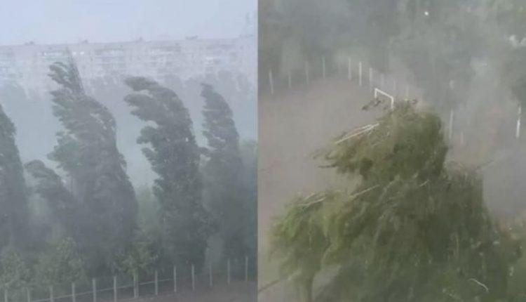 Ураган зніс торгові намети: вітер та гроза накрили Харків – відео