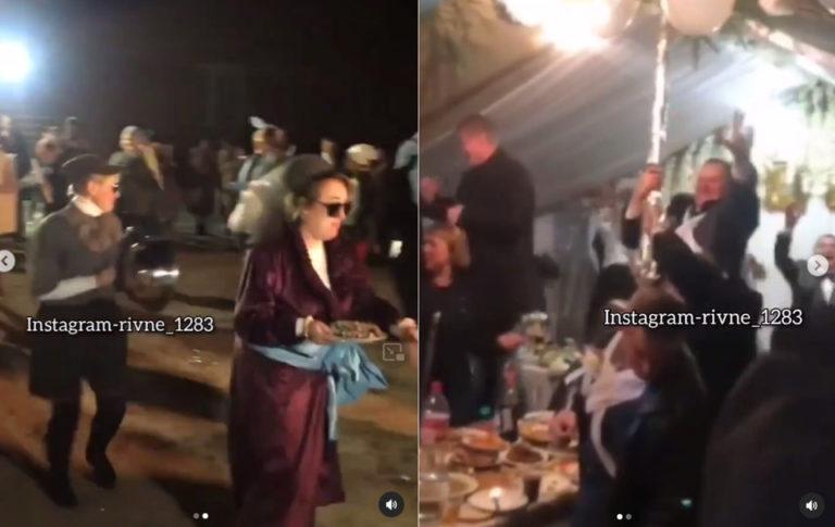 Весілля в шалаші: на столи під «Фелліні» повилазили навіть старші чоловіки (ВІДЕО)
